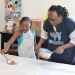 Chisekko's batik workshop at the Art House
