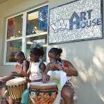 Drumming at the Art House