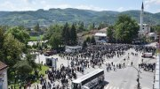 General view of Ferhadija mosque during its opening ceremony in Banja Luka, May 7, 2016. Thousands flocked to the capital of Bosnia's Serb statelet on Saturday for the reopening of a historic mosque destroyed during wartime, a ceremony seen as encouraging religious tolerance among deeply divided communities.   REUTERS/Dado Ruvic  TPX IMAGES OF THE DAY