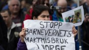 protests against the Norwegian child welfare