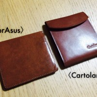 [n❁h]薄い財布最強はどっち⁈〈Cartolare〉フラットウォレットと〈abrAsus〉薄いマネークリップを比べてみた。 #七ブ侍 #木曜日 *22