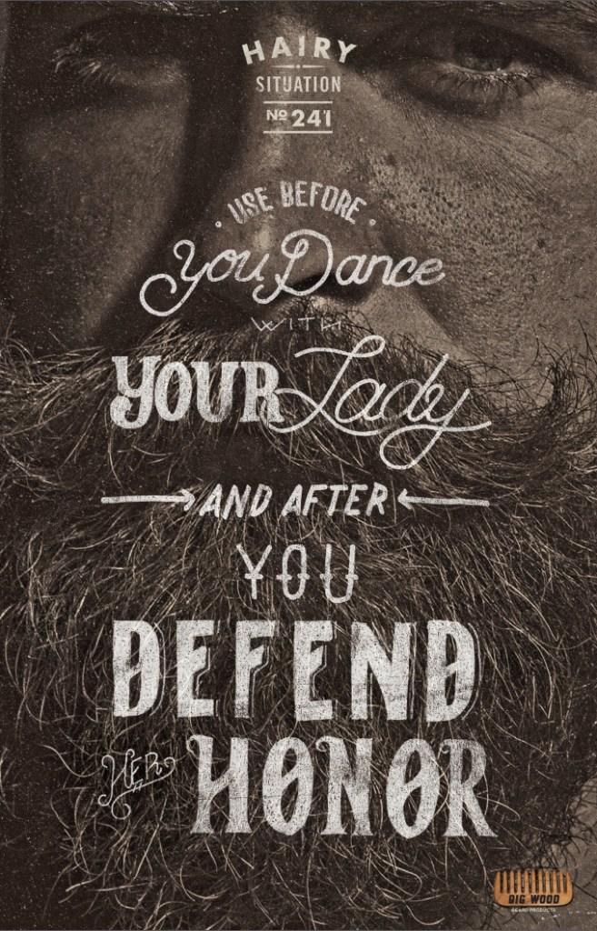 Big Wood Beard Combs - Use before Dance