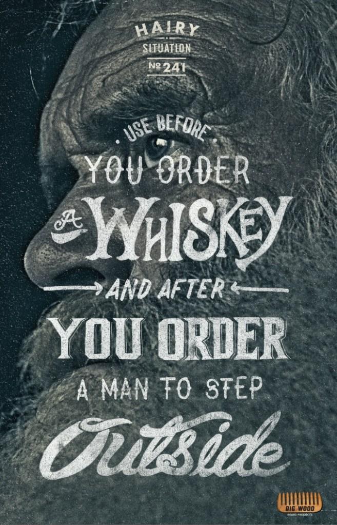 Big Wood Beard Combs - Use before Whiskey
