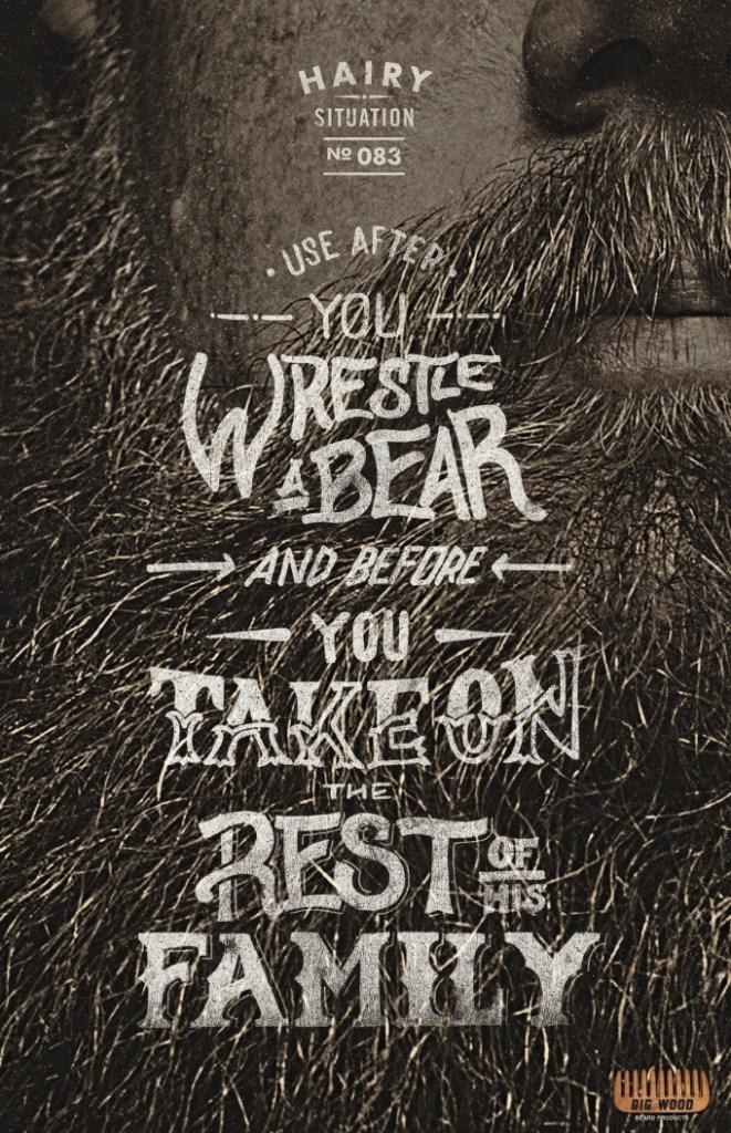 Big Wood Beard Combs - Use before Wrestle Bear