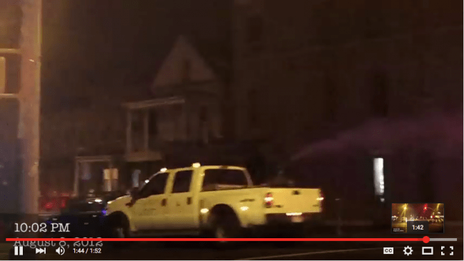 Truck Spraying Pesticides down NYC Streets