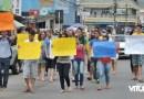 Universitários de Vitória protestam por melhorias no transporte