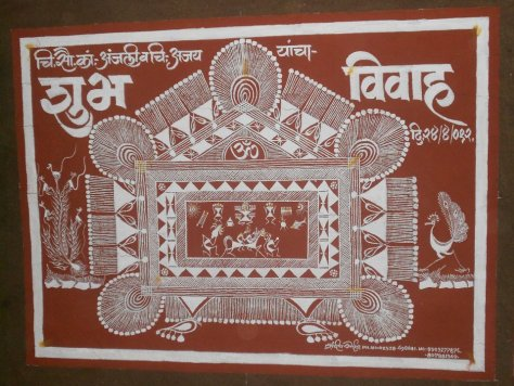 The warli art which was also a part of the wedding
