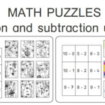 puzzle maths additions soustractions
