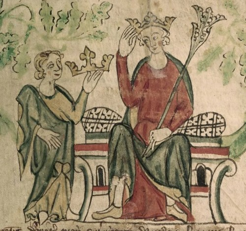 Edward II enthroned (Image: BL Royal 20 A II)