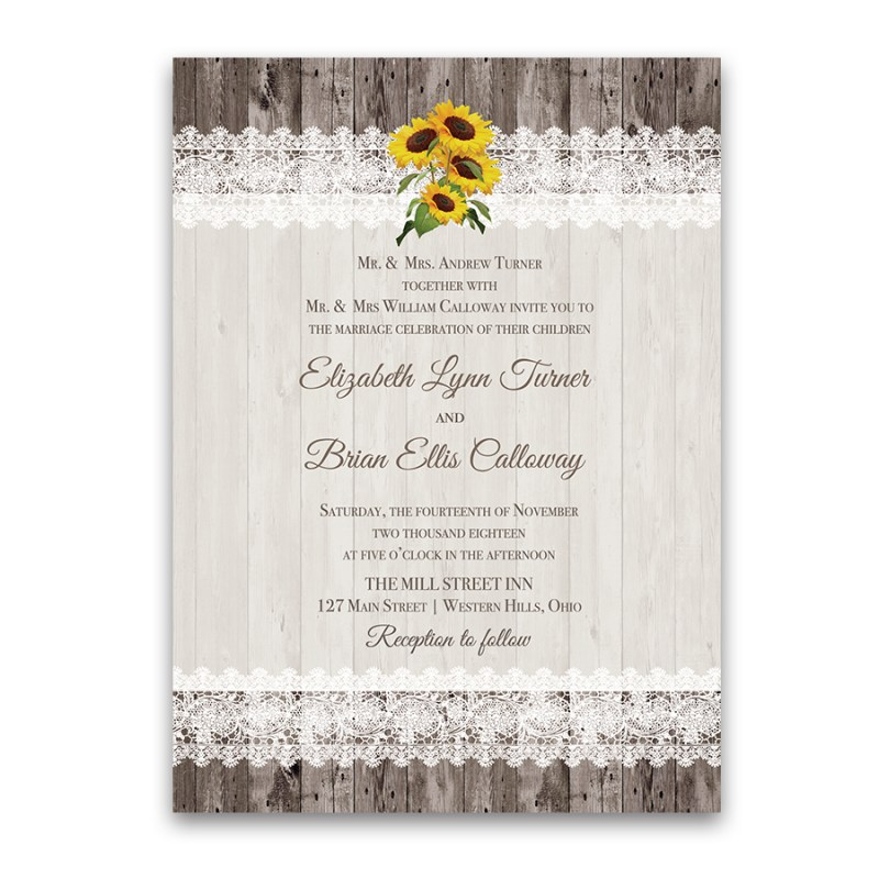 Large Of Sunflower Wedding Invitations