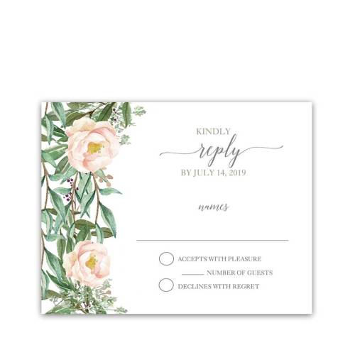 Medium Of Wedding Rsvp Cards