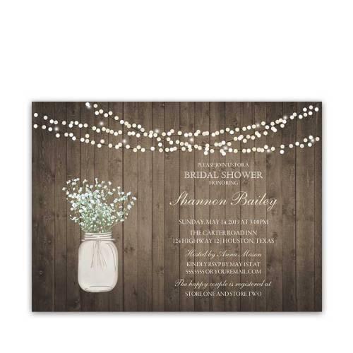 Medium Crop Of Rustic Bridal Shower Invitations