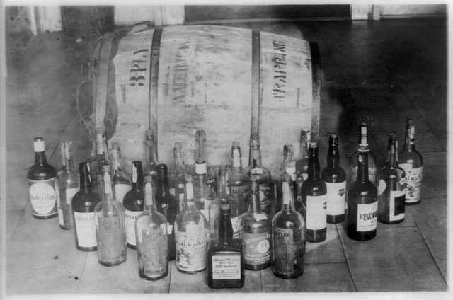 Whiskey incautado durante la Ley Seca