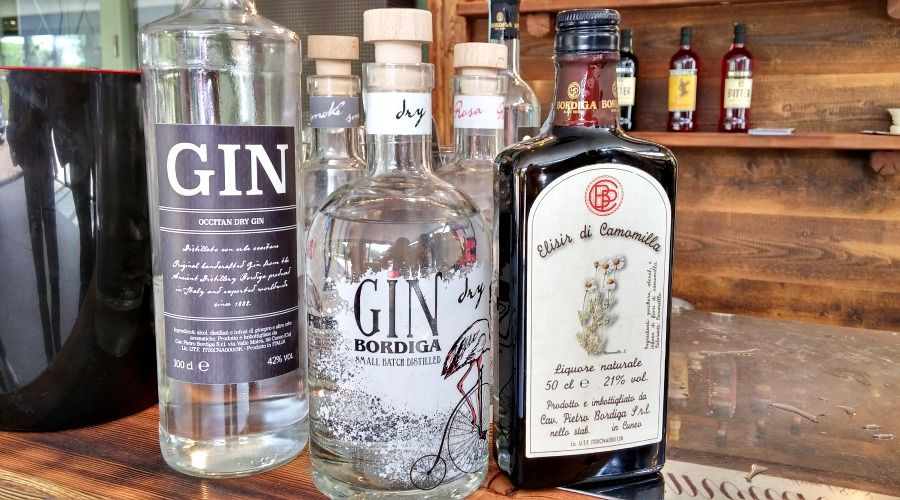 Ginebra y licor de Bordiga
