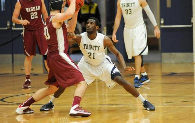 From 1-5, including #21 Alex Conaway '15, Trinity can defend with the best of them. (Courtesy of Trinity Athletics)