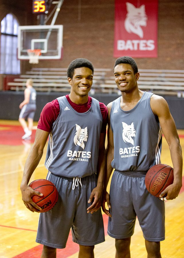 Marcus (left) and Malcolm (right) will take over as the leaders of the Bobcats, both on and off teh court. (Courtesy of Phyllis Graber Jensen/Bates College)