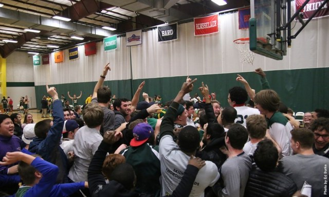 The Cards aren't the only team that enjoyed a nice court storming last weekend. Skidmore is also coming off of a conference championship. (Courtesy of Skidmore Athletics)