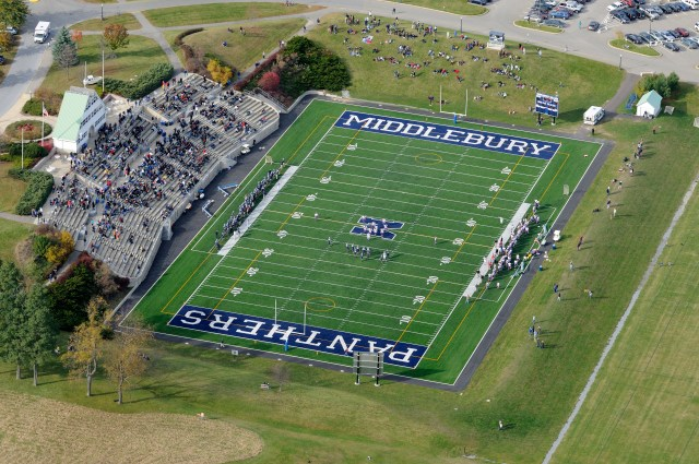 MIDDLEBURY, VT (October 17, 2009) - Aerial images of the campus of Middlebury College, Middlebury, Vermont. (Photo © Brett Simison)
