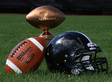 Bowdoin hasn't won the outright CBB title since 2010, but here's a reminder of how nice it would look next to that black helmet. (Courtesy of Bowdoin Athletics)