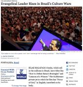 Confira a matéria do The New York Times sobre o Pastor Silas Malafaia traduzida na íntegra