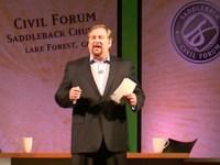 O pastor Rick Warren realizará em sua igreja um fórum com os candidatos a presidência Barack Obama e Mitt Romney