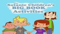 Capa do livro infantil satanista