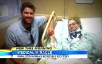 Milagre: Ex-tetraplégica volta a andar e testemunha milagre duplo em sua vida