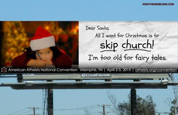 Outdoor dos ativistas ateus contra o Natal