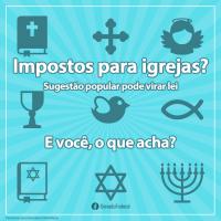 Senado faz enquete para saber a opinião dos brasileiros sobre o fim da isenção fiscal de igrejas