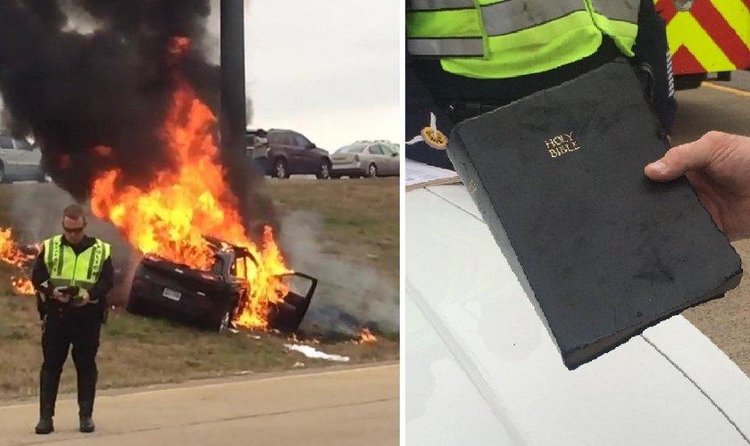 Bíblia recuperada intacta após explosão
