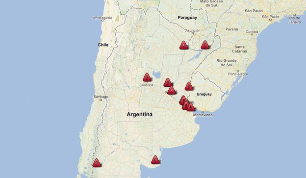 El mapa de los saqueos