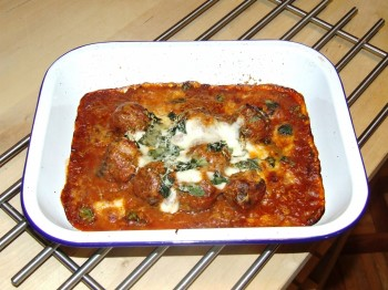 Italian Meatballs hot from the oven