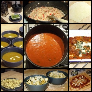 9 different Italian dishes