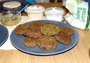 a plate full of grilled Falafel