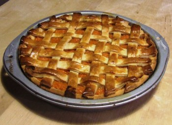 Sweet Potato Pie hot from the oven