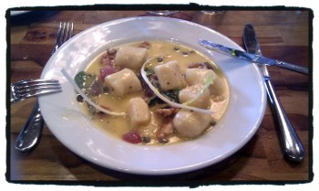 Potato Gnocchi with Gorgonzola