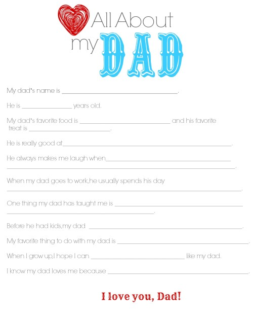 Dad Questionaire Color