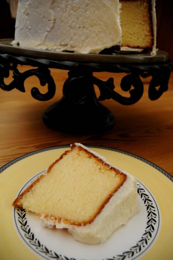 Lemon Pound Cake with Lemon Buttercream Frosting