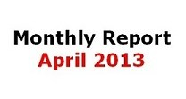 monthly report April 2013