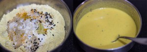 Besan/Gram flour batter