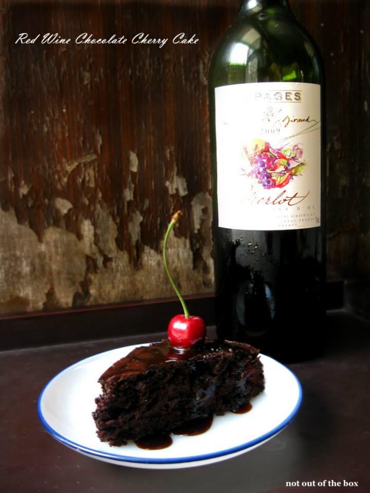 Red Wine Chocolate Cherry Cake