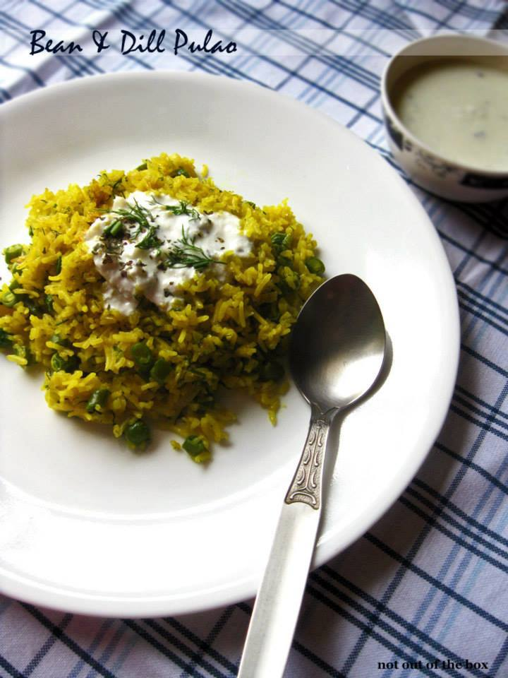 Bean & Dill Pulao with Garlicky Yogurt