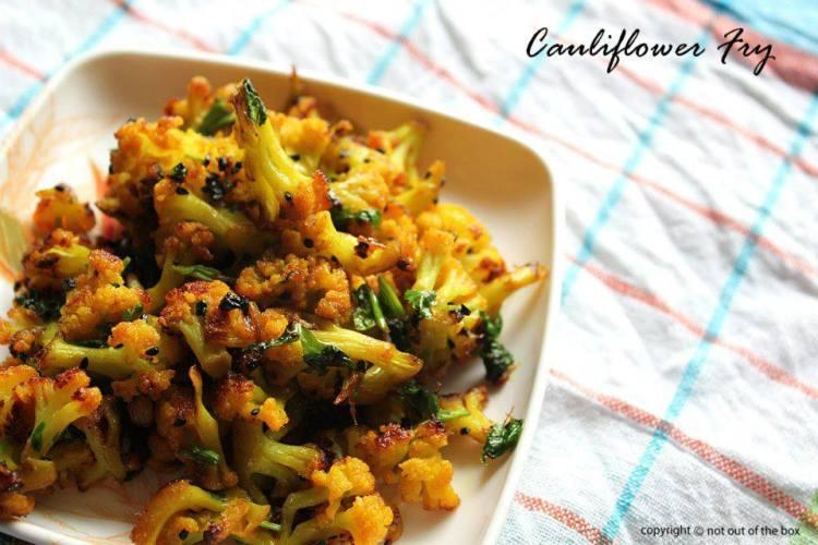 Cauliflower Fry/ Phoolkopi Bhaja