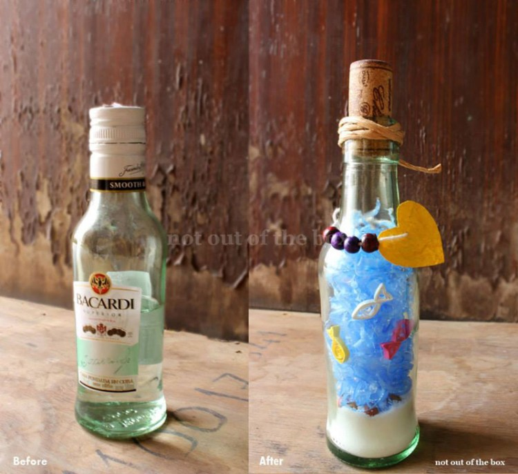 Makeover of a Bacardi bottle