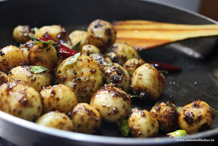 Pan Roasted Baby Potatoes with Curry leaves