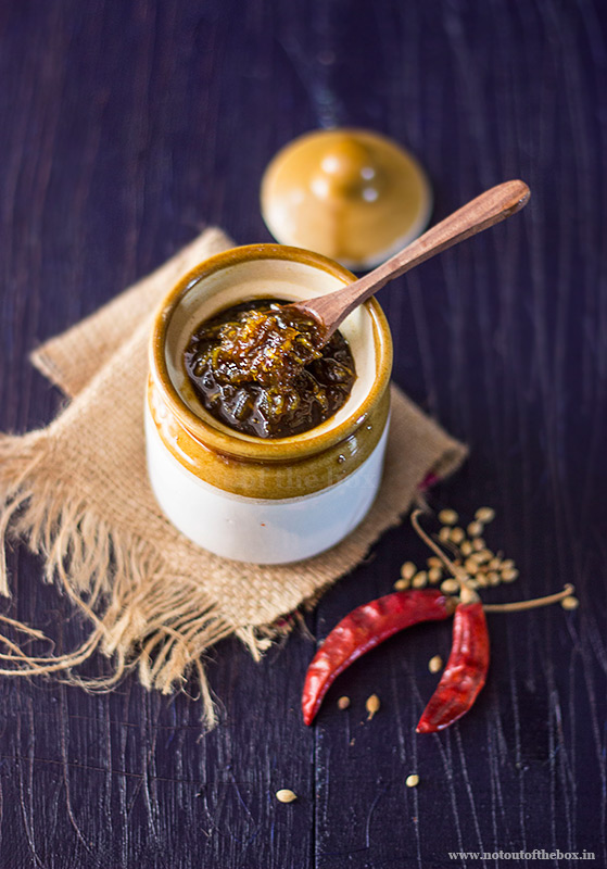 Sweet & Spicy Raw Mango Pickle