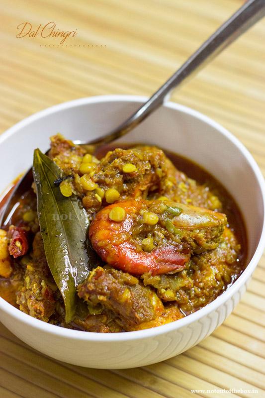 Dal Chingri/Prawn Curry with Chana Dal
