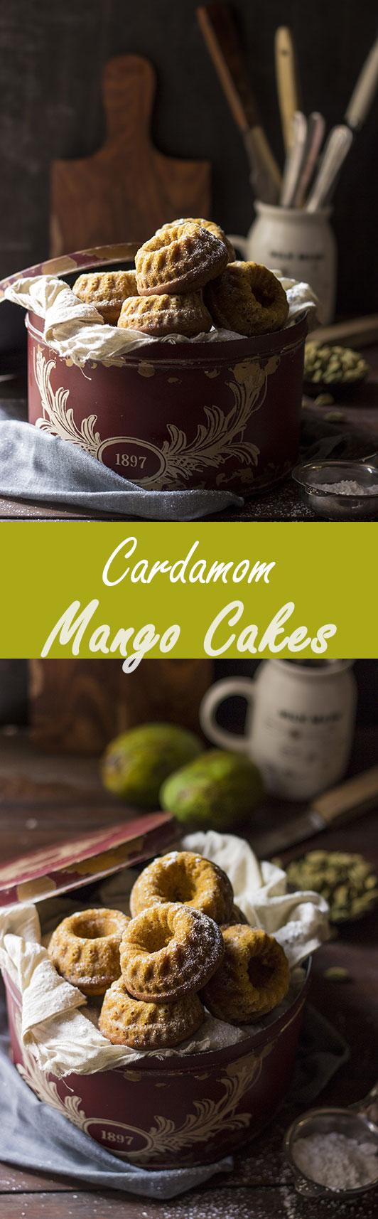 Cardamom Mango Cakes