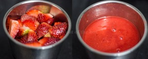 Making of Strawberry Puree