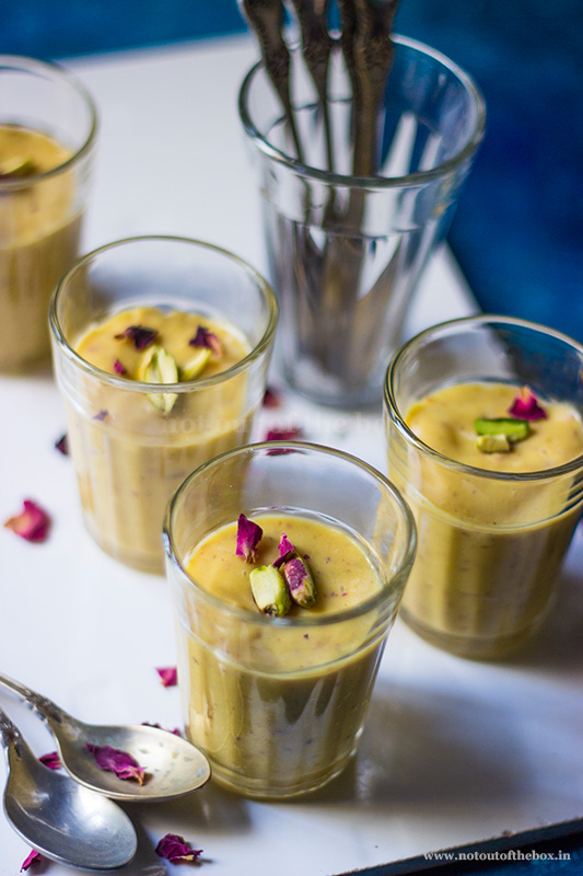 Rose Mango Pudding